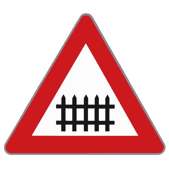 VZ Alu r.str. 70cm §50/6a Bahnübergang m.Schranken | www.rosa-moser.at